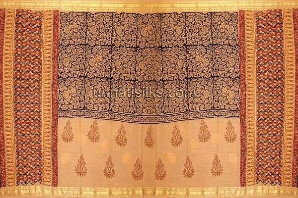 Chunni of FKP013-Unstitched casual brown handloom pure cotton salwar kameez