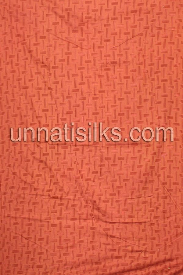 bottom of FKP080-Unstitched casual green and brown pure handloom cotton salwar kameez