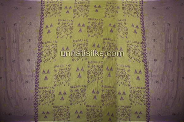 Chunni of FKP039-Unstitched corporate purple and green banarasi supernet salwar kameez