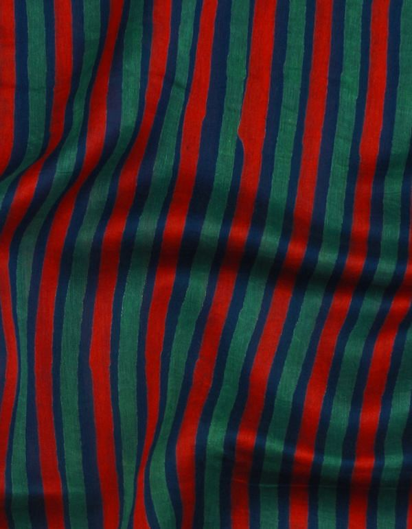 Online Shopping for Blue Pure Chanderi Sico Fabric with Block Prints from Madhya Pradesh at Unnatisilks.com, India