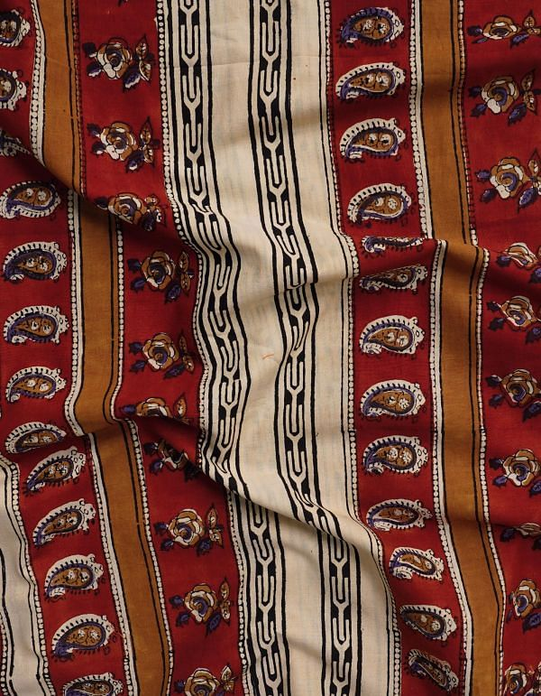 Online Shopping for Cream Bagru Printed Pure Rajasthani Cotton Fabric with Bagru Prints from Rajasthan at Unnatisilks.comIndia