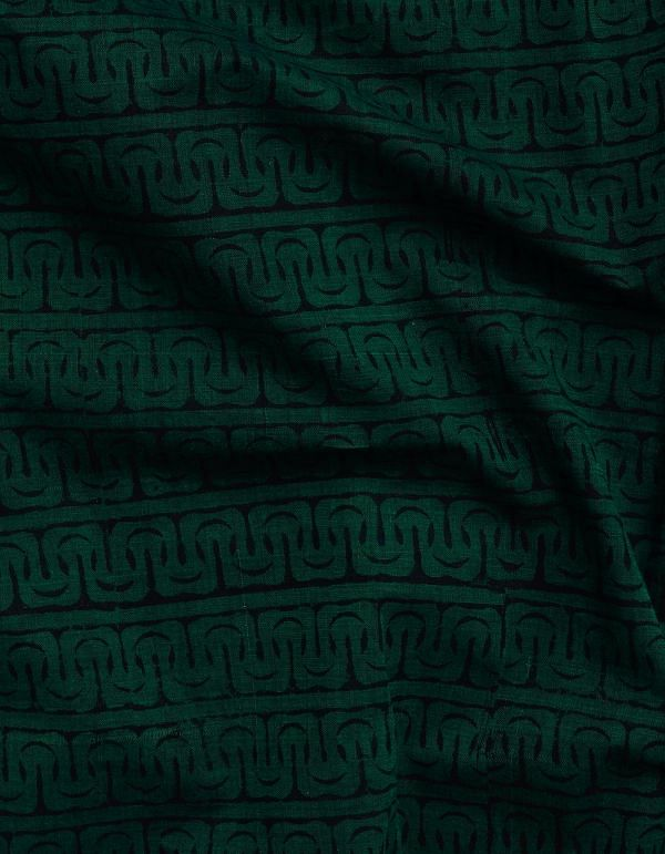 Green Printed Cotton Fabric (1 MTR)