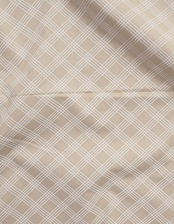 Beige Printed Cotton Fabric (1 MTR)