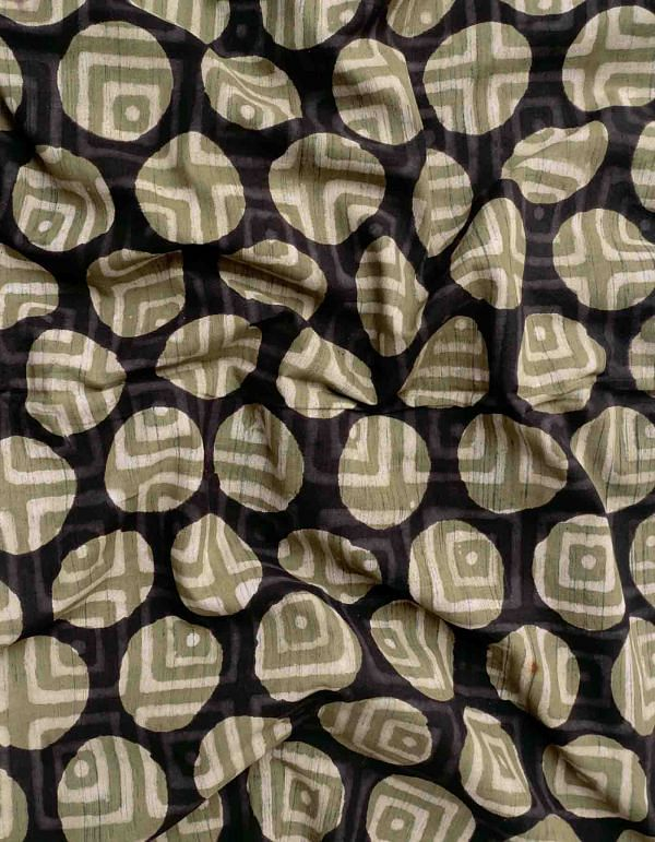 Multicolor Jowta Hand Block Printed Cotton Fabric (1MTR)- KTR1397