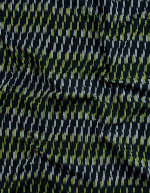 Online Shopping for Black Pure Handloom Pochampally Mercerized Cotton Ikat Fabric(1MTR) with Tie-Dye Ikat from Andhra Pradesh at Unnatisilks.com, India