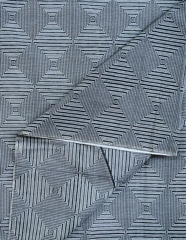 Grey Pure Cotton Printed Fabric(1MTR)
