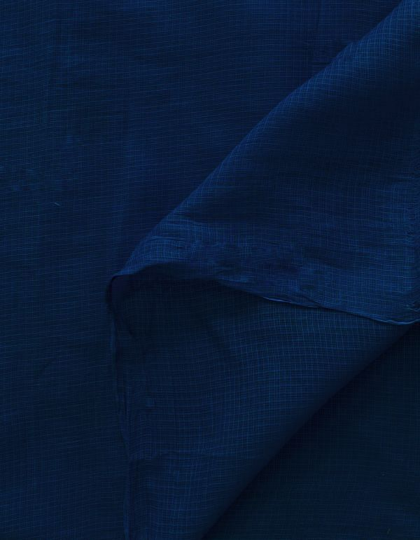 Online Shopping for Blue Pure Kota Cotton Fabric(1MTR) with weaves from  at Unnatisilks.com, India