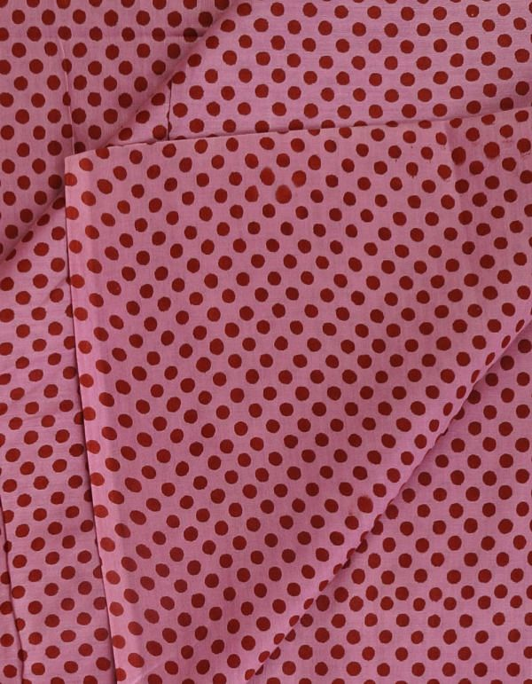 Pink Pure Cotton Printed Fabric(1MTR)-KTR397