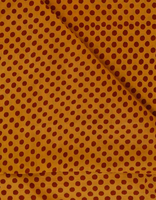KTR399-Yellow Pure Cotton Printed Fabric(1MTR)
