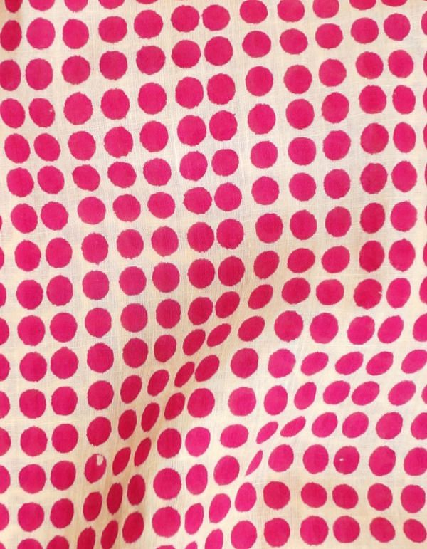 Cream Pure Cotton Printed Fabric (1MTR)-KTR403