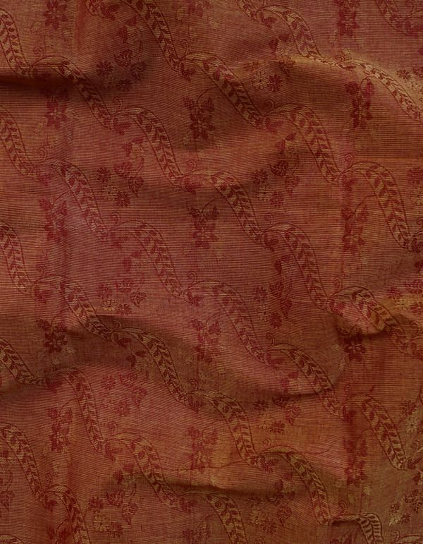 Maroon Pure Kanchi Cotton Fabric(1MTR)-KTR426