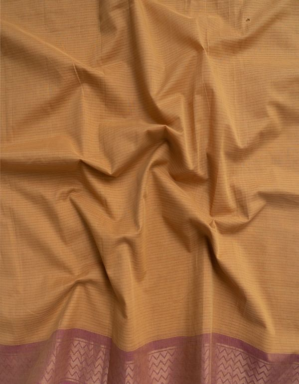 Yellow Pure Mangalagiri Cotton Fabric (1MTR)