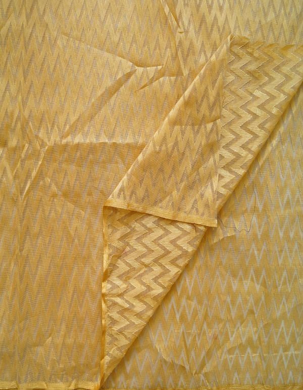 Cream Banarasi Net Fabric(1MTR)-KTR434