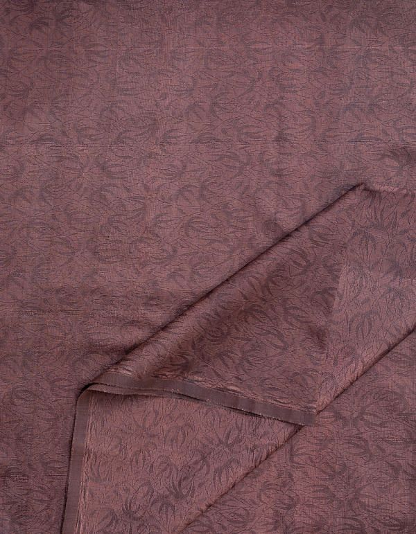 KTR435-Brown Jacquard Silk Fabric (1MTR)
