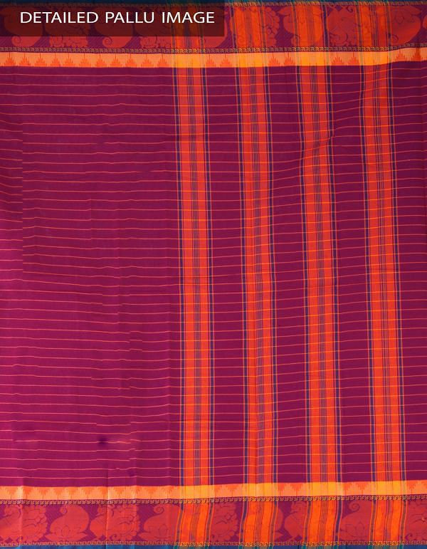 Online Shopping for Purple Pure Handloom Chettinad Cotton Saree with Weaving from  Tamilnadu at Unnatisilks.com, India