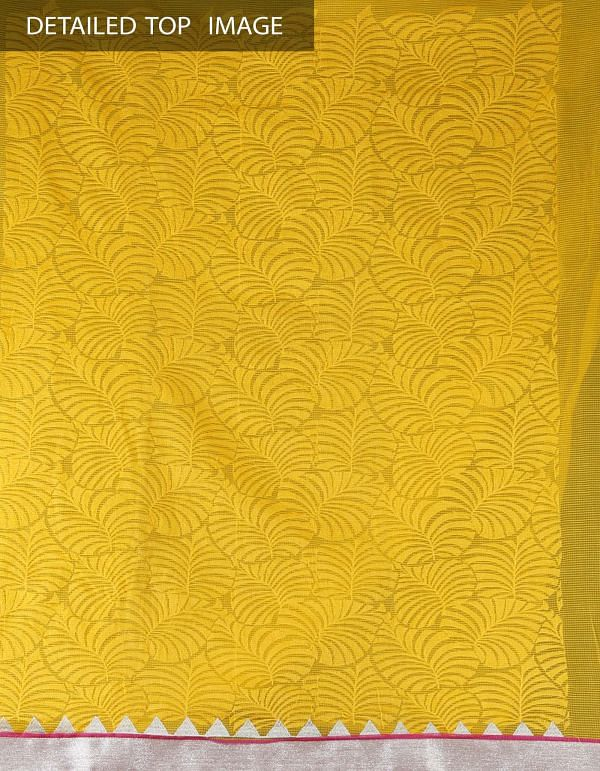 Online Shopping for Unstitched Yellow-Pink Pure Chanderi Silk Salwar Suit with Parsi Work from Madhya Pradesh at Unnatisilks.com, India
