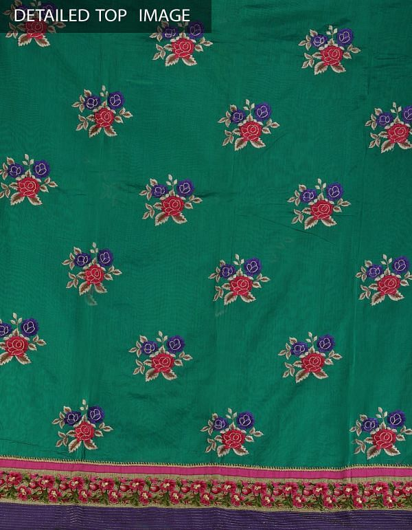 Online Shopping for Unstitched green chanderi silk salwar kameez  with embroidery from madhya pradesh at Unnatisilks.com, India