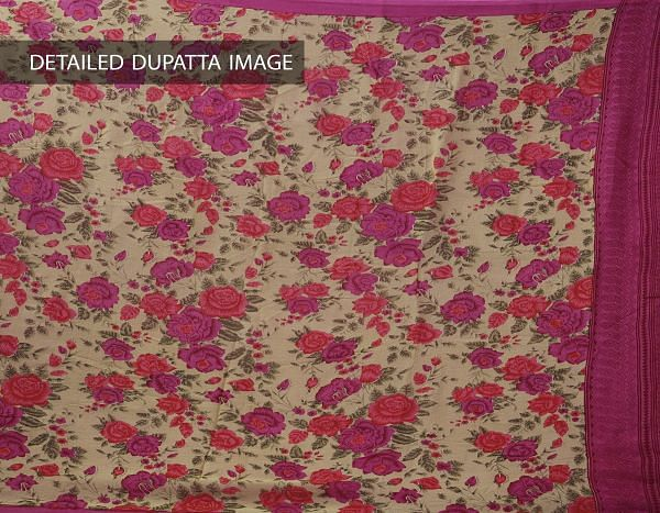 Online Shopping for Unstitched Pink-Purple Pure Rajasthani Malmal Cotton Salwar Kameez  with Prints  from Rajasthan at Unnatisilks.com, India