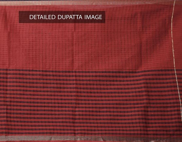 Online Shopping for Unstitched Multi-Orange Pure Mangalagiri Cotton Salwar Kameez with Weaving  from Andhra Pradesh at Unnatisilks.com, India