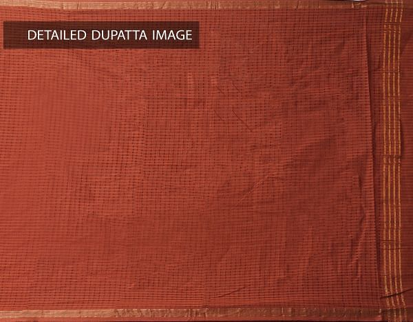 Online Shopping for Unstitched Multicolor-Orange Pure Mangalagiri Cotton Salwar Kameez with weaves from  at Unnatisilks.com, India