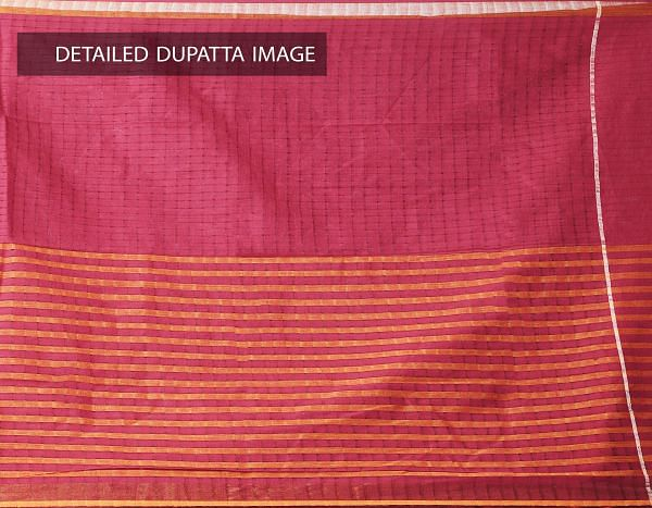 Online Shopping for Unstitched Multicolor-Red Pure Mangalagiri Cotton Salwar Kameez with Weaving from Andhra Pradesh at Unnatisilks.com, India