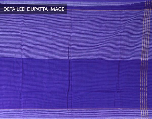 Online Shopping for Unstitched Violet Pure Mangalagiri Cotton Salwar Kameez with Weaving from  at Unnatisilks.com, India