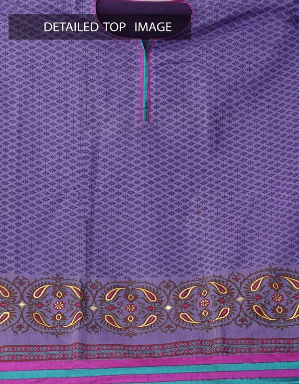 Online Shopping for Semi-Stitched Violet-Pink Pure Chanderi Sico Salwar Kameez with Embroidery Work from Madhya Pradesh at Unnatisilks.com, India