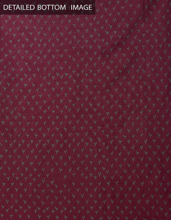 Online Shopping for Unstitched Cream-Maroon Pure Mangalagiri Cotton Salwar Kameez with Hand Block Prints from Andhra Pradesh at Unnatisilks.comIndia
