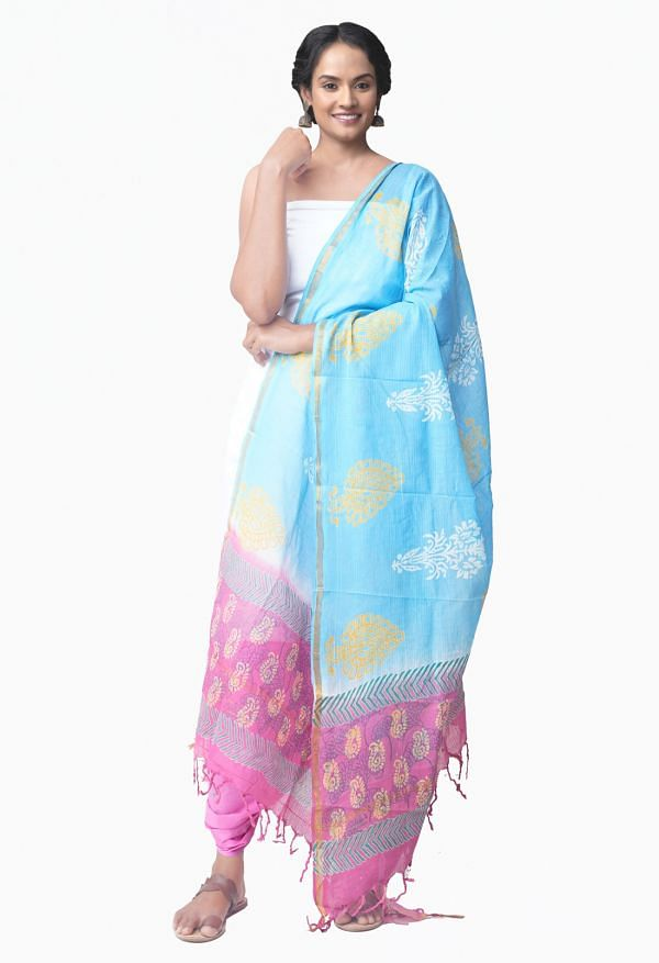 Online Shopping for Unstitched White-Pink Pure Kanchi Cotton Salwar Kameez with  Weaving from Tamilnadu at Unnatisilks.comIndia