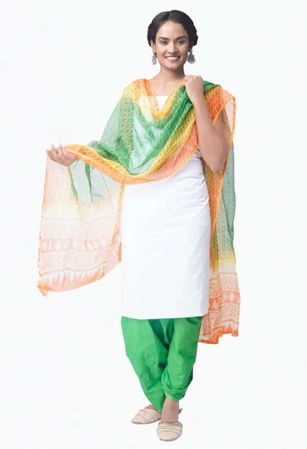 Online Shopping for Unstitched White-Green Pure Chettinad Cotton Salwar Kameez with Weaving from Tamil nadu at Unnatisilks.comIndia