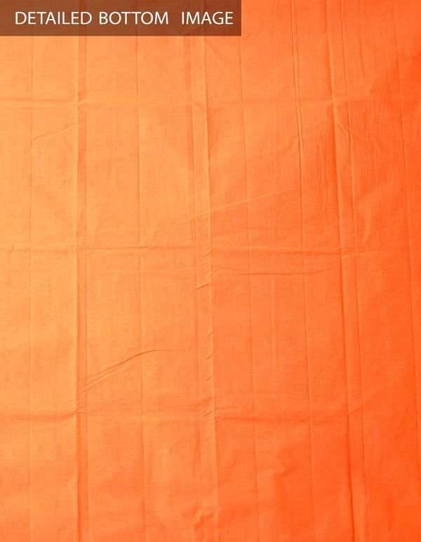 Online Shopping for Unstitched White-Orange Pure Chettinad Cotton Salwar Kameez with  Weaving from Tamilnadu at Unnatisilks.comIndia