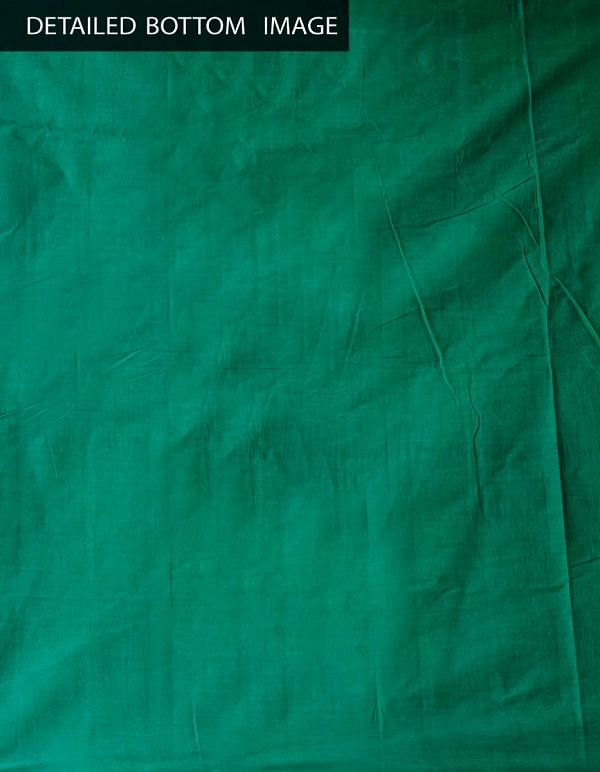 Online Shopping for Unstitched White-Green Pure Chettinad Cotton Salwar Kameez with  Weaving from Tamilnadu at Unnatisilks.comIndia