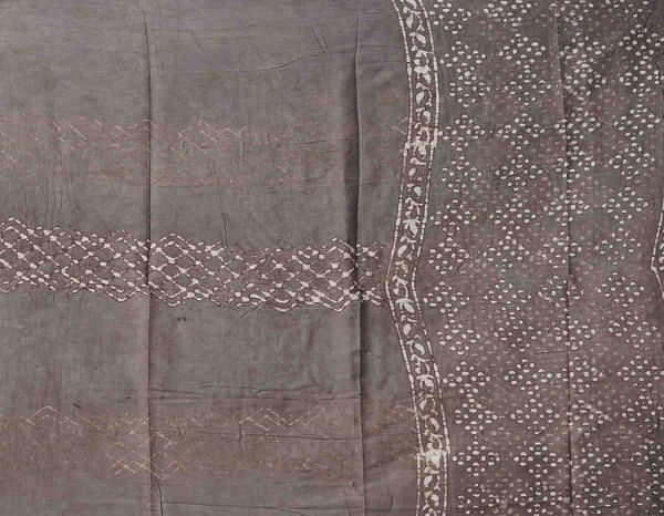 Online Shopping for Unstitched Grey Pure Dabu Cotton Salwar Kameez with Dabu from Rajasthan at Unnatisilks.comIndia