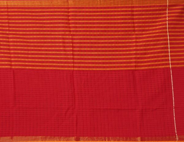 Online Shopping for Unstitched Orange-Red Pure Rajasthani Cotton Salwar Kameez with Weaving from Andhra Pradesh at Unnatisilks.comIndia