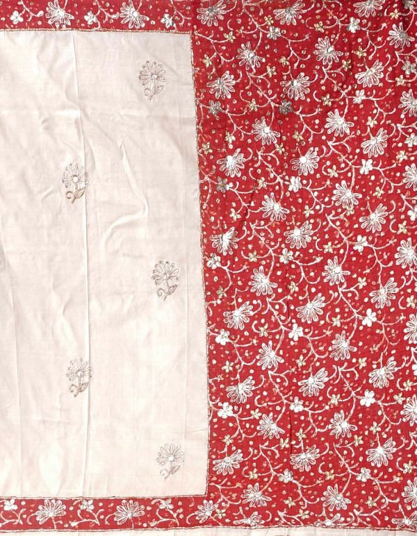Online Shopping for Cream Royal Pure Handloom Kerala Tussar Silk Hand Woven & Hand Embroiderd Saree with Kalamkari Embroidery Work, Applique Work from Kerala at Unnatisilks.comIndia