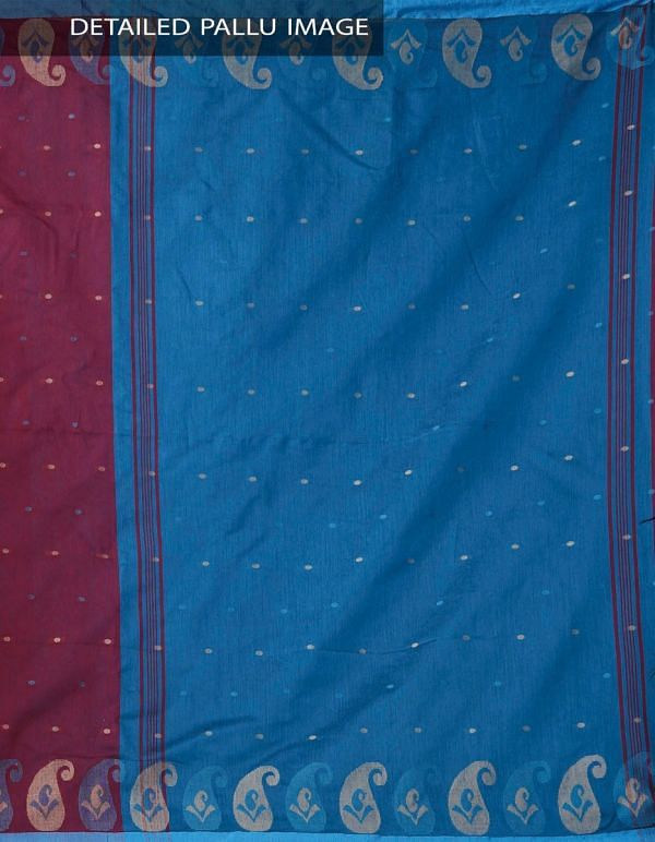 Burgundy Pure Handloom Bengal Linen Saree with Tassels