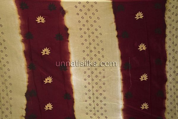 SDP08-Unstitched party maroon-cream fancy silk salwar kamiz