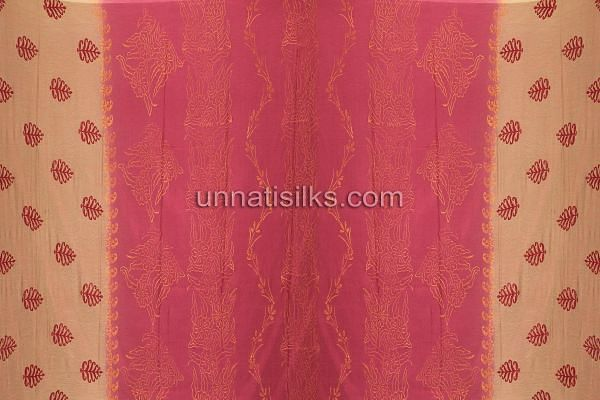 SDP015-Unstitched party maroon and pink fancy silk salwar kameez
