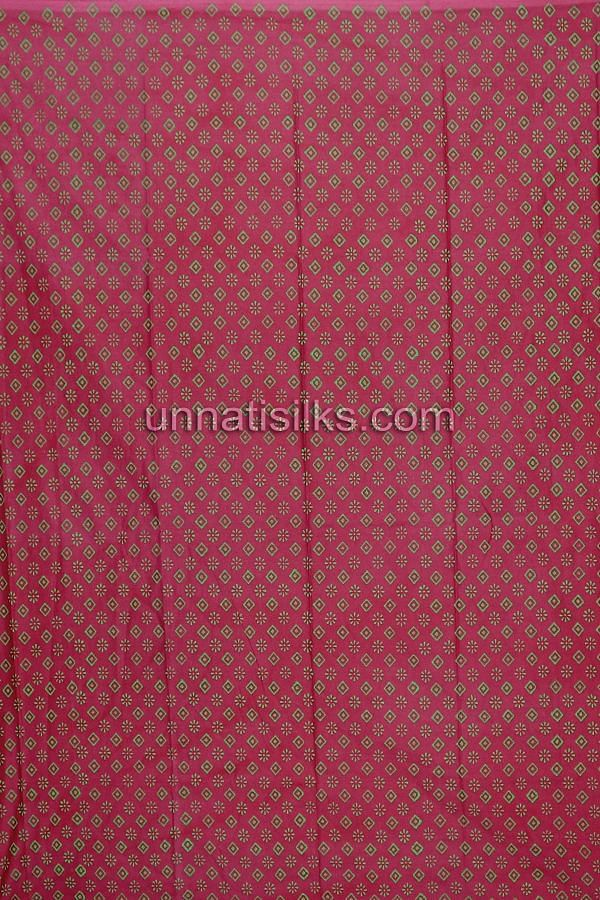 Bottom of SDP175-Unstitched casual green and pink chanderi cotton silk salwar kameez
