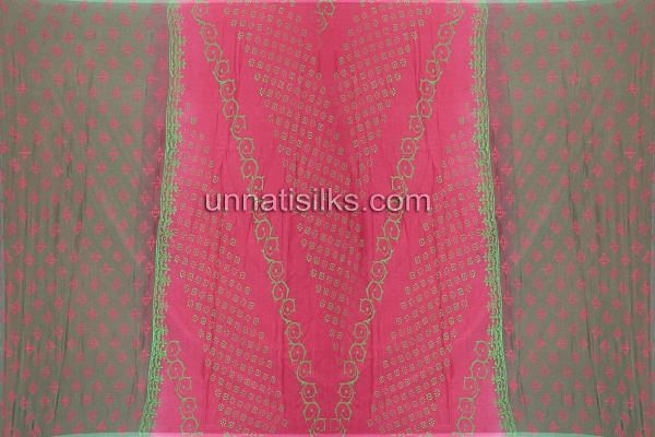 Chunni of SDP175-Unstitched casual green and pink chanderi cotton silk salwar kameez