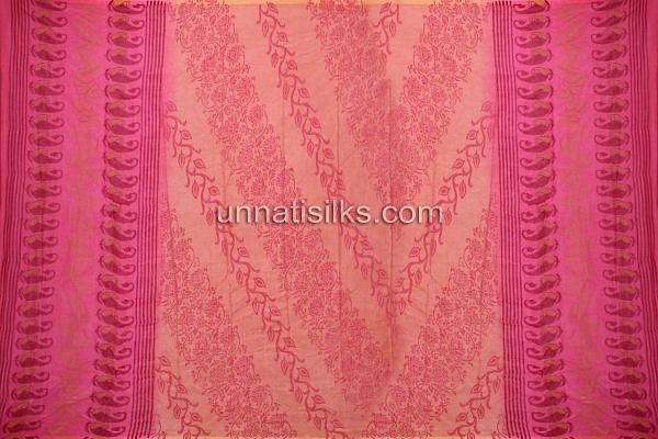 SDP176-Unstitched pink chanderi cotton silk salwar kameez