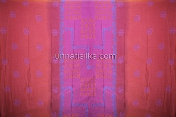 SDP195-Unstitched red-purple banarasi georgette salwar suit