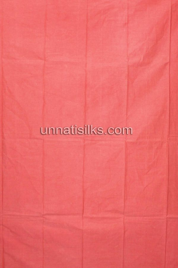 Bottom of SDP021-Unstitched formal orange chanderi cotton salwar kameez