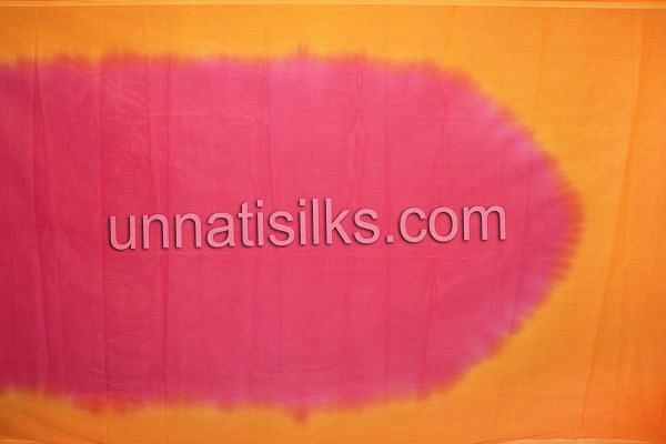 SDP225-Unstitched casual pink and orange chanderi cotton silk salwar kameez