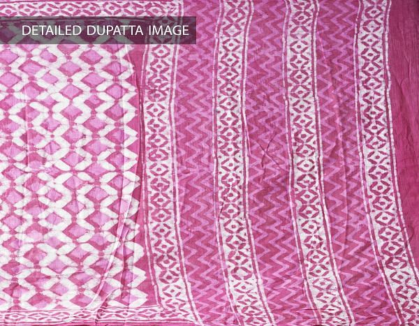 Online Shopping for Pink Pure Dabu Printed  Rajasthani Cotton Dupatta with Dabu prints from Rajasthan at Unnatisilks.com India