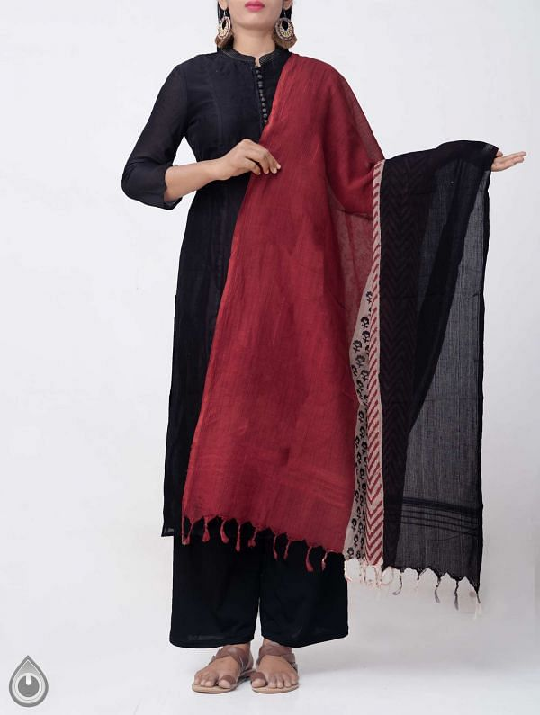 Online Shopping for Multicolor Bagru Printed Pure Cotton Dupatta with Bagru Prints from Rajasthan at Unnatisilks.comIndia