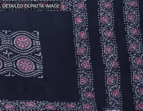 Blue Pure Hand Batik Kota Cotton Dupatta