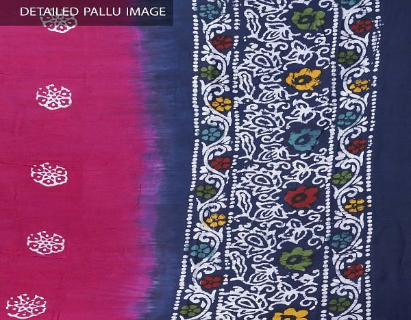 Online Shopping for Pink Pure Soft Mulmul Cotton Dupatta with Hand Batik Prints from Rajasthan at Unnatisilks.comIndia