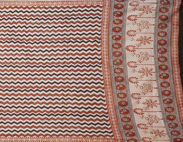 Online Shopping for Cream Bagru Printed Pure Mulmul Cotton Dupatta  with Bagru Prints from Rajasthan at Unnatisilks.comIndia