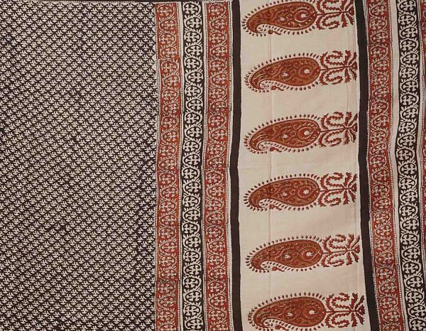 Black Bagru Printed Pure Mulmul Cotton Dupatta